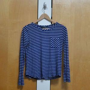 Forever 21 Blue & White Striped Shirt